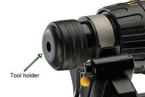 SDS plus drill - insert bit in tool holder.