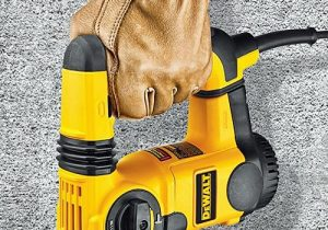 SDS plus drill with floating handle.