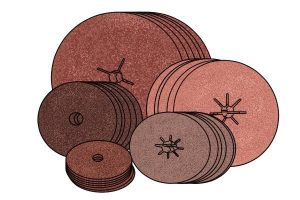 Sanding discs come with pads with different gradients.