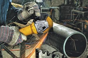 Soft start angle grinder allow for safe operation.