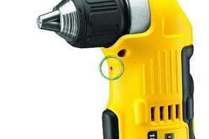 LED drill light makes it easier to work in dark areas.
