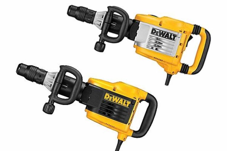 Two Dewalt demolition hammers.