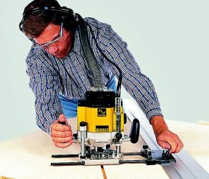 Projects can be completed using a dewalt plunge router.
