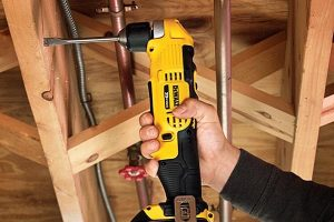 The Dewalt angle drill is compact and versatile.