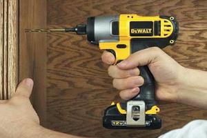 The Dewalt cordless screwdriver is very versatile.