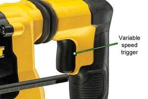 Variable Speed Trigger on DeWalt Power Tools.